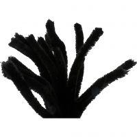 Askartelupunokset, Pit. 30 cm, paksuus 15 mm, musta, 15 kpl/ 1 pkk