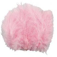 Höyhenet, koko 5-12 cm, vaaleanpunainen, 15 kpl/ 1 pkk