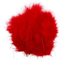Höyhenet, koko 5-12 cm, punainen, 15 kpl/ 1 pkk