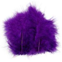Höyhenet, koko 5-12 cm, violetti, 15 kpl/ 1 pkk