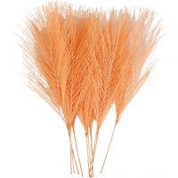 Keinotekoiset höyhenet, Pit. 15 cm, Lev: 8 cm, oranssi, 10 kpl/ 1 pkk