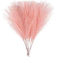 Keinotekoiset höyhenet, Pit. 15 cm, Lev: 8 cm, vaaleanpunainen, 10 kpl/ 1 pkk