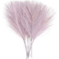 Keinotekoiset höyhenet, Pit. 15 cm, Lev: 8 cm, violetti, 10 kpl/ 1 pkk