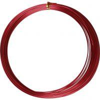 Alumiinilanka, pyöreä, paksuus 1 mm, punainen, 16 m/ 1 rll