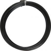 Alumiinilanka, pyöreä, paksuus 2 mm, musta, 10 m/ 1 rll