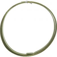 Alumiinilanka, litteä, Lev: 15 mm, paksuus 0,5 mm, vihreä, 2 m/ 1 rll