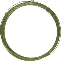 Alumiinilanka, litteä, Lev: 3,5 mm, paksuus 0,5 mm, vihreä, 4,5 m/ 1 rll
