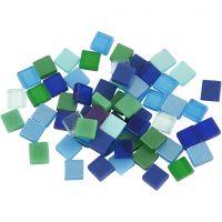 Minimosaiikit, koko 5x5 mm, vihreä/sinisävyt, 25 g/ 1 pkk