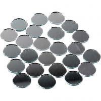 Peilimosaiikit, pyöreät, halk. 18 mm, 400 kpl/ 1 pkk
