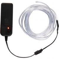 LED-valojohto, Pit. 3 m, neonsininen, valkoinen, 1 kpl