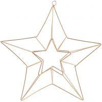 Metallikoriste, tähti, koko 34x30 cm, messinki, 1 kpl