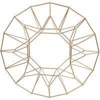 Metallikoriste, kranssi, halk. 28 cm, messinki, 1 kpl