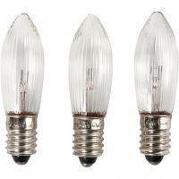 LED-lamput, Kork. 45 mm, halk. 15 mm, 3 kpl/ 1 pkk