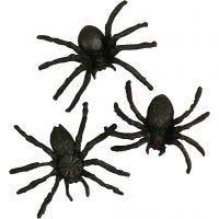 Hämähäkit, koko 4 cm, 60 kpl/ 1 pkk