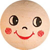 Massapallopäät, halk. 22 mm, vaalea puuteri, 10 kpl/ 1 pkk