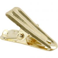 Metalliklipsi, Pit. 27 mm, Lev: 14 mm, kulta, 10 kpl/ 1 pkk