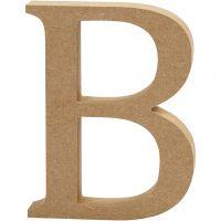 MDF-kirjain, B, Kork. 13 cm, paksuus 2 cm, 1 kpl