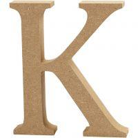 MDF-kirjain, K, Kork. 13 cm, paksuus 2 cm, 1 kpl