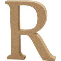 MDF-kirjain, R, Kork. 13 cm, paksuus 2 cm, 1 kpl