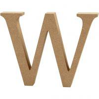 MDF-kirjain, W, Kork. 13 cm, paksuus 2 cm, 1 kpl