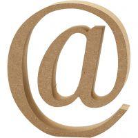 Symboli, @, Kork. 13 cm, paksuus 2 cm, 1 kpl