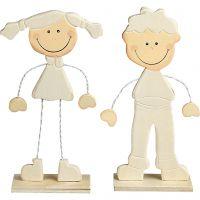 Tyttö ja poika, Kork. 18 cm, 1 pari