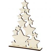 Joulukuusi, Kork. 29,8 cm, syvyys 4 cm, Lev: 21,5 cm, 1 kpl