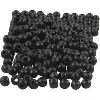 Puuhelmet, halk. 5 mm, aukon koko 1,5 mm, musta, 6 g/ 1 pkk, 150 kpl