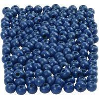 Puuhelmet, halk. 5 mm, aukon koko 1,5 mm, sininen, 6 g/ 1 pkk, 150 kpl