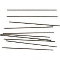 Metallipuikot, Pit. 10 cm, halk. 2 mm, 10 kpl/ 1 pkk