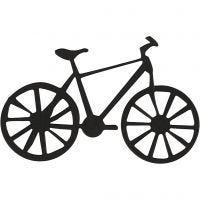 Kartonkikuvio, polkupyörä, koko 77x48 mm, musta, 10 kpl/ 1 pkk