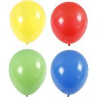 Ilmapallot, isot, halk. 41 cm, sininen, vihreä, punainen, keltainen, 4 kpl/ 1 pkk