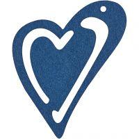 Sydän, koko 55x45 mm, tummansininen, 10 kpl/ 1 pkk