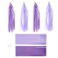 Paperitasselit, koko 12x35 cm, 14 g, tummanvioletti/vaaleanvioletti, 12 kpl/ 1 pkk