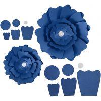 Paperikukat, halk. 15+25 cm, 230 g, sininen, 2 kpl/ 1 pkk