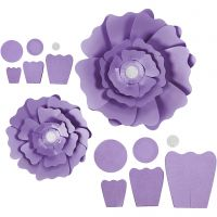 Paperikukat, halk. 15+25 cm, 230 g, violetti, 2 kpl/ 1 pkk