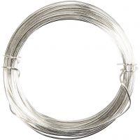 Metallilanka, paksuus 0,4 mm, hopeanväriset, 20 m/ 1 rll