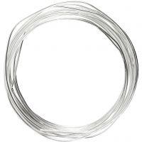 Metallilanka, paksuus 1,2 mm, hopeanväriset, 3 m/ 1 rll