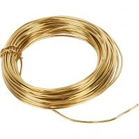 Metallilanka, paksuus 1,2 mm, 100 g, messinki, 10 m/ 1 rll