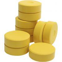 Tempera-maali, Kork. 19 mm, halk. 57 mm, keltainen, 10 kpl/ 1 pkk