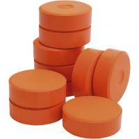 Tempera-maali, Kork. 19 mm, halk. 57 mm, oranssi, 10 kpl/ 1 pkk