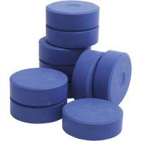 Tempera-maali, Kork. 19 mm, halk. 57 mm, sininen, 10 kpl/ 1 pkk