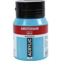 Amsterdam- akryylimaali, peittävä, Turquoise blue (522), 500 ml/ 1 pll