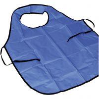Maalarin essu kauluksella, Pit. 100 cm, koko M-XL cm, sininen, 10 kpl/ 1 pkk