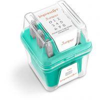 Pakotusleimasin (punsseli), numerot, koko 3 mm, Fontti: Juniper  , 9 kpl/ 1 set