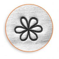Pakotusleimasin (punsseli), kukka, Pit. 65 mm, koko 6 mm, 1 kpl