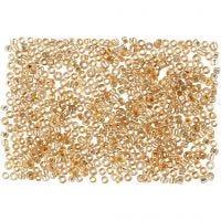 Rocaille-siemenhelmet, halk. 1,7 mm, koko 15/0 , aukon koko 0,5-0,8 mm, persikka, 500 g/ 1 pss