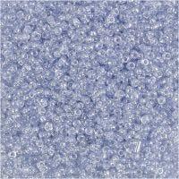 Rocaille-siemenhelmet, halk. 1,7 mm, koko 15/0 , aukon koko 0,5-0,8 mm, vaaleansininen, 25 g/ 1 pkk
