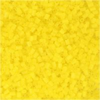Siemenhelmet, Putki, halk. 1,7 mm, koko 15/0 , aukon koko 0,5 mm, kuulto keltainen, 25 g/ 1 pkk