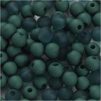 Muovihelmet, halk. 6 mm, aukon koko 2 mm, pullonvihreä, 40 g/ 1 pkk